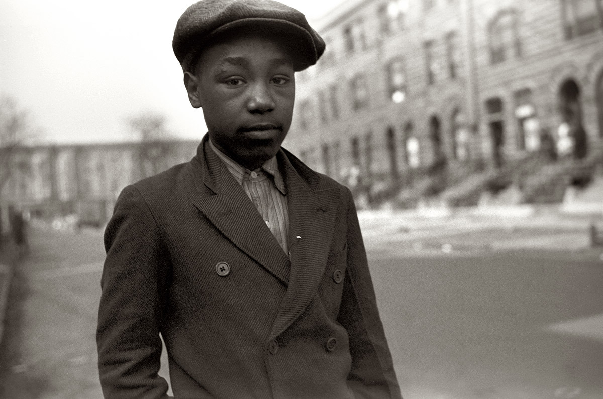 South Side Chicago boy, 1941. By Edwin Rosskam