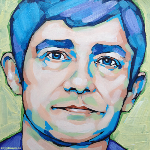 "koppkunst:    ""Martin Freeman"", 2013 20 x 20cm (7,9"") acrylic on panel"