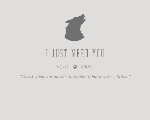 I Just Need You