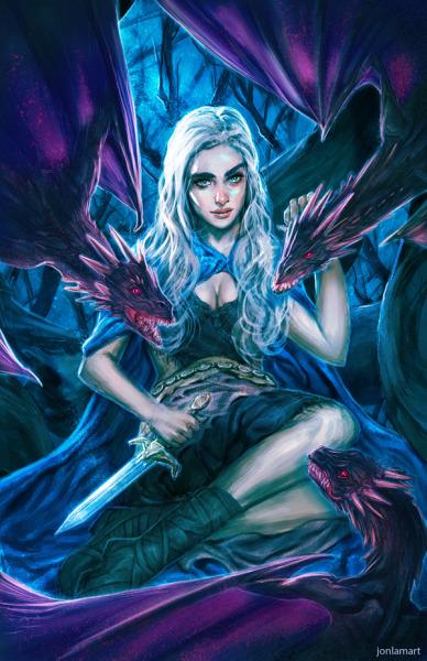 jonlamart:  My fanart of Daenerys Targaryen of Game of Thrones <3