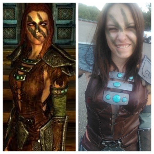 Sploo….me as Aela the huntress from skyrim.I have more photos somewhere…I made (with a little help) LeatherFaux SuadeChain MailPVC-for the main pieces anyways-