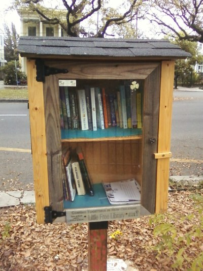 """Little Free Library"" in New Orleans. So awesome."