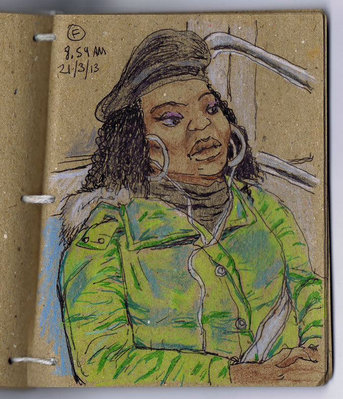 NY Portraits: F train, 8.59am 21/3/13