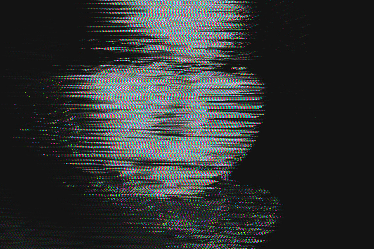 Study of a Face #1January 2013Waveform Glitch of an original bitmap(Took some time off to nurse a broken heart, new work coming though)