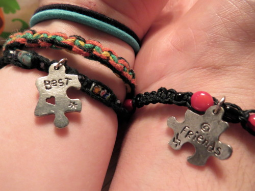 lindseymarter:  Mommy pimped out the bracelets for Derek & I c: