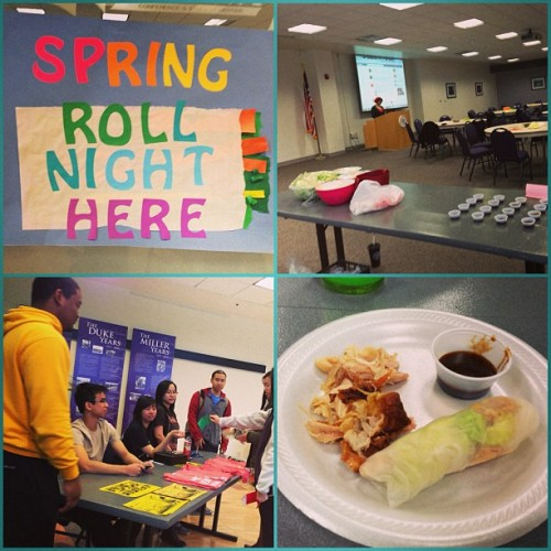 Successful @jmuvsa spring roll night!!!! 😊🍴🌸