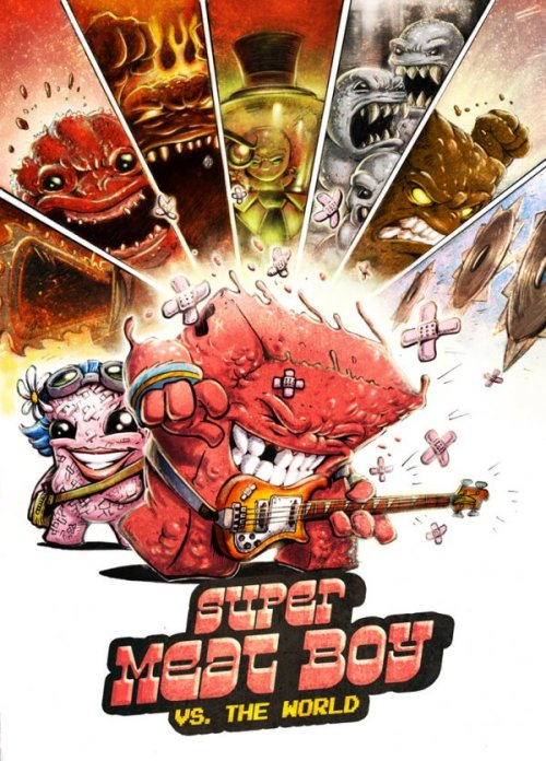 Super Meat Boy vs. The World And to think that Scott Pilgrim kid thinks HE had it hard…