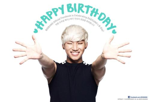 kawaii04:  Big Bang's Facebook Update: Happy Birthday Daesung! (13.04.26) Source: Big Bang's Official Facebook