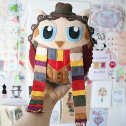 doctor who collection crafts 11th Doctor fandom owls 12th doctor 10th doctor MyWork handmade Tom Baker felt sonic screwdriver plush toys 4th Doctor LONG SCARF scrabblekitty doctor whoo