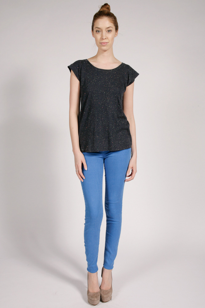 MBMJ Speckled Jersey Tee Pant; MBMJ Stick Electric Blue Lemonade