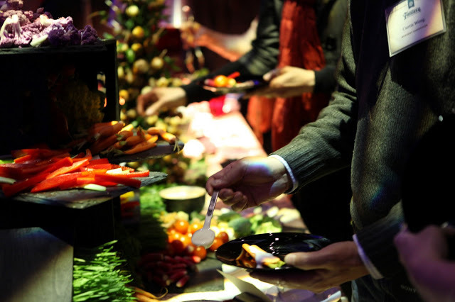 Wolfgang Puck Catering hosted a fantasy-themed dinner for the EMP Museum's new exhibit, with inspiration from Harry Potter, Lord of the Rings, Princess Bride, and more. More photos and details.