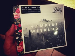 Finally picking this up! #ModernVampiresOfTheCity #VampireWeekend at Starbucks – View on Path.