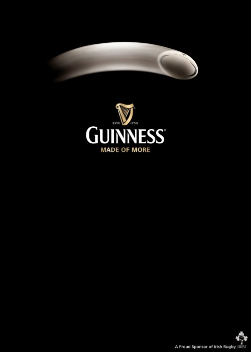 fewandfar-between:  Guinness and rugby…can't get enough of either of them.