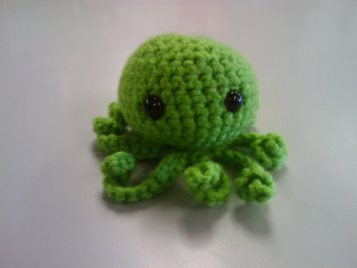 Green Amigurumi Octopus Handmade Found on Etsy