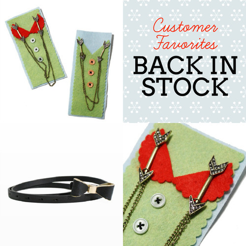 Our much-loved Katie Bow Belts and Lake Arrowhead Sweater Clips are now back in stock! They make the perfect gift for any stylish lady in your life this holiday season.