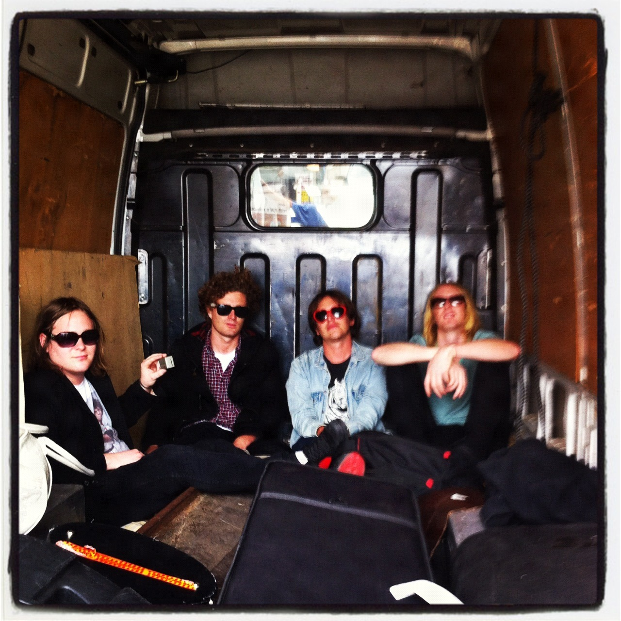 Sup mofos? Time to hit the road again to see if we can play the songs from CONTROLLER live (and to see how well everyone has learned the words). We don't travel anywhere by van anymore so I thought i'd post this photo as a meditation on how far we've come. I sort of miss it. Nic doesn't miss it. Peace