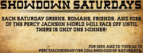 Get Ready! http://www.percyjacksonmovies.com/showdown-saturdays/