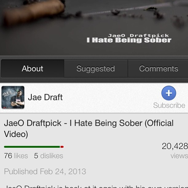 Just reached 20k on my last video #HateBeingSober.This means the world to me that 20k plus ppls took the time out to watch my video. Road 2 Riches on the way this July. You heard it here 1st.