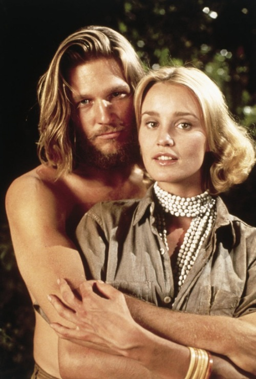 Jeff Bridges and Jessica Lange in 'King Kong', 1978.