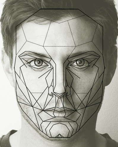 Jensen ackles's face perfectly fits the golden ratio mask of perfect facial proportions and symmetry.