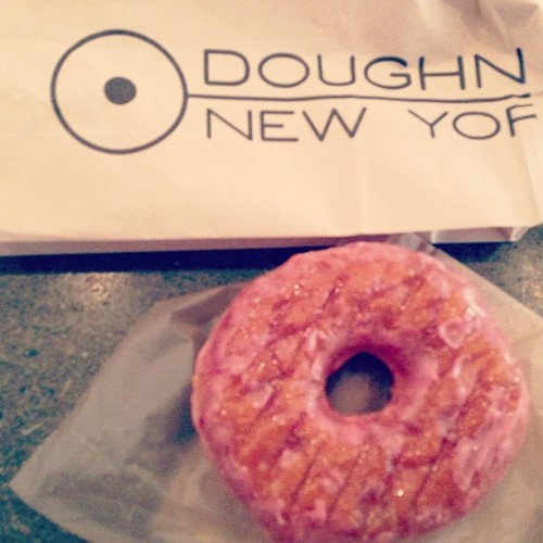 Naturally, deliciously strawberry. #doughnut #strawberryeverything @doughnutplantny  (at Doughnut Plant)