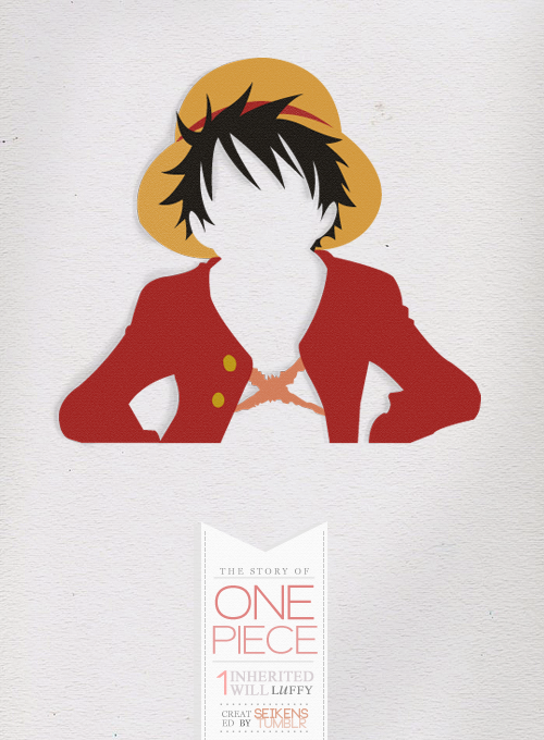 seikens:   «Minimalist Series» - The Story of One Piece (volume 01)  Inspired by THIS.