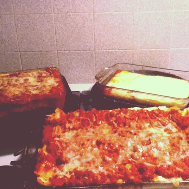 Food😳 @celeryc  hella go at making lasagna