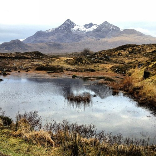 Another amazing Scottish highland landscape, Black Cuillin Mountains on Isle of Skye #blogmanay by uncornered_market http://instagr.am/p/UEegqROWcK/
