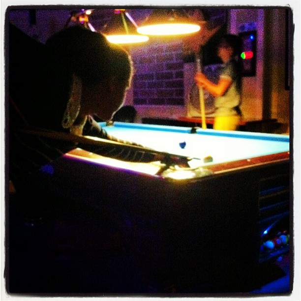 This is what pool night looks like. #NYC #weekend.  (at Space Billiards)