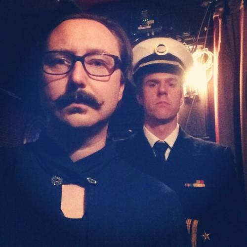hodgman:  David Rees and I have a Captain and Tennille tribute band.  HANDSOME.