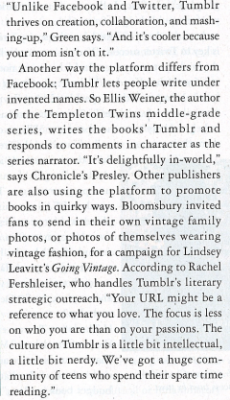 rachelfershleiser:  From today's Publishers Weekly!