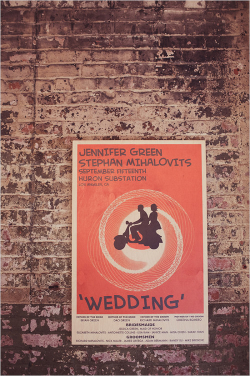 wedding-scrap-book:  I love this movie poster idea!via Wedding Chicks  Cute idea…