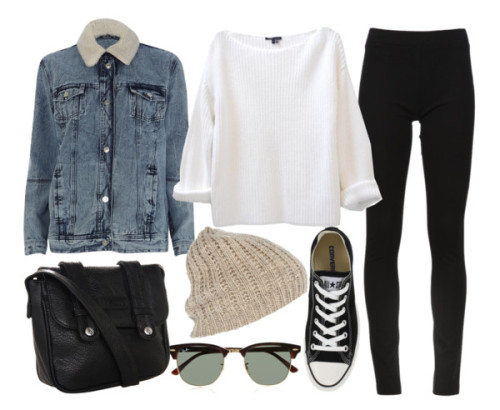 thepolyvorecollection:  Untitled #1631 by florencia95 featuring a jean jacket