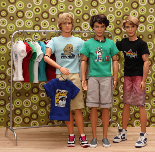 80s Cartoon Fans by FashionistaKen on Flickr.Custom Ken doll T shirts made by Hegemony77
