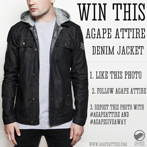 We're picking the winner of the denim jacket giveaway at 5 pm PST. So now is your last chance to enter!! #agapeattire #agapegiveaway