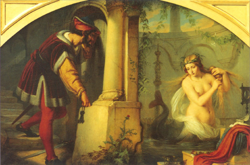 """ The Beautiful Melusine ""  ….  Artist:  Julius Huebner, Germany [1844]"