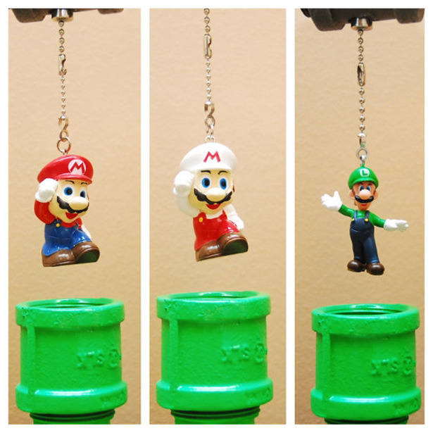 insanelygaming:  Mario Bros. Theme Industrial Pipe Lamp Available on Etsy for $199.35 USD Created by TRoweDesigns