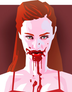 Deborah Ann Woll as Jessica Hamby in True Blood! Art by me! (Mike Faille)