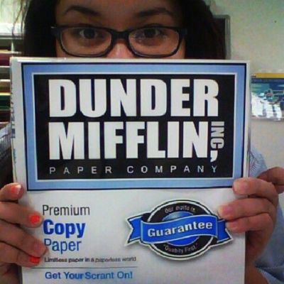 my company gets their paper from the good people at #theoffice of #DunderMifflin