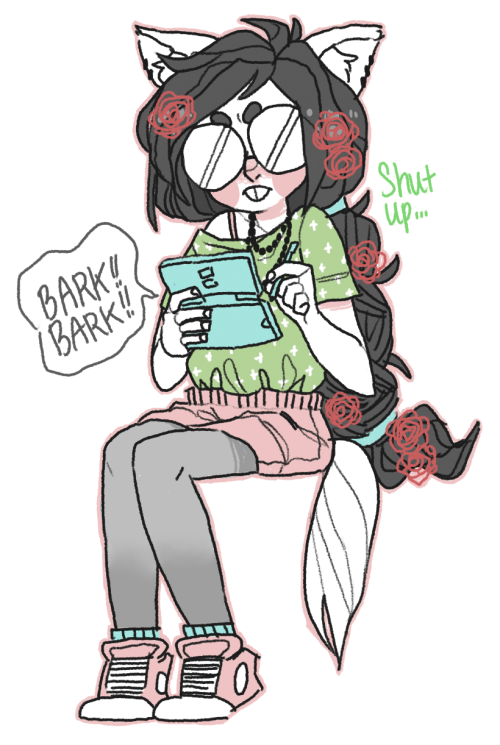 sircuddlebuns:  she's playing nintendogs