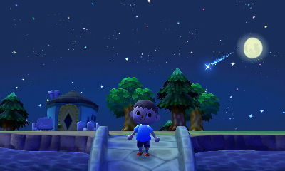 The meteor showers look better than ever in New Leaf.