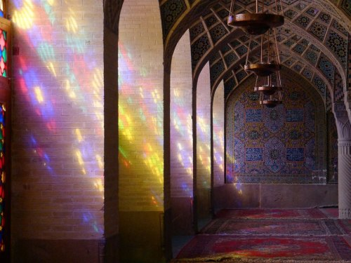indigenousdialogues:  Winter Prayer Hall, Nasir al-Mulk Mosque, Shiraz, Iran