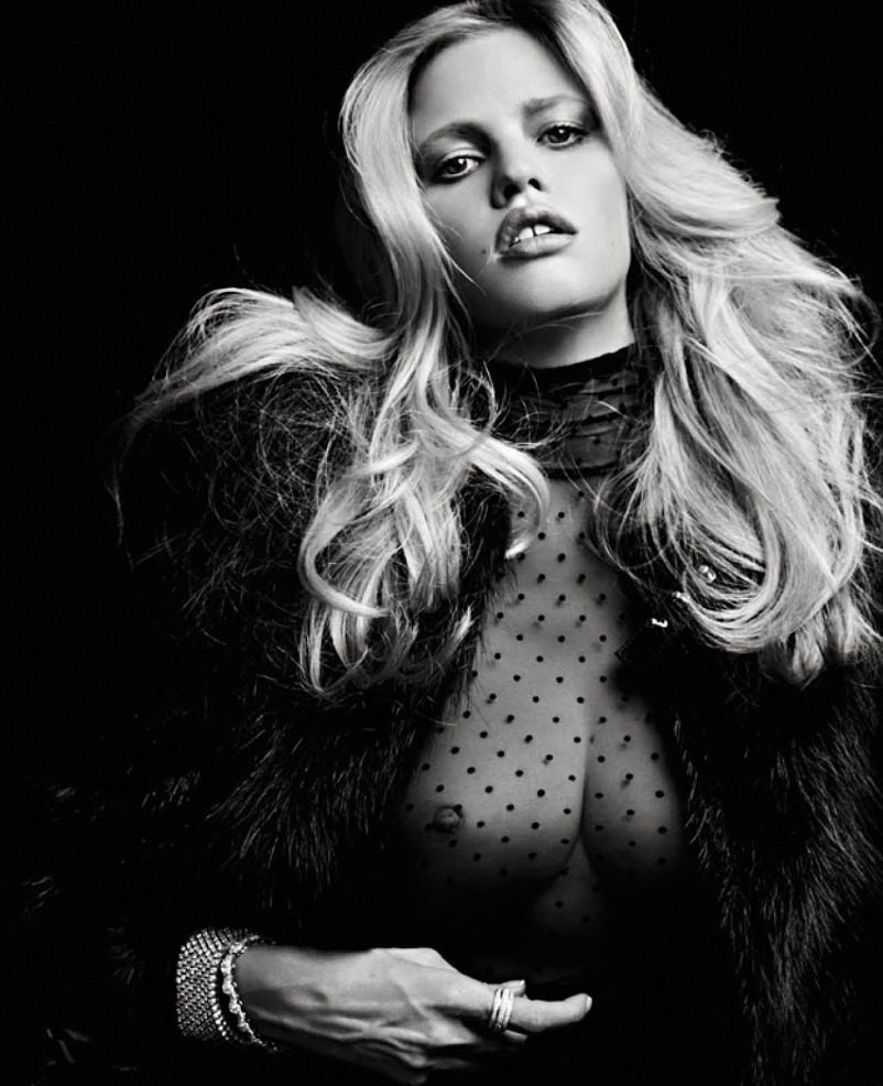 pussylequeer:  Lara Stone - Vogue Russia by Hedi Slimane, January 2013