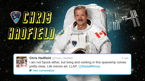 colchrishadfield:  Fun little comic!Photos courtesy the Canadian Space Agency.  Yes I live in a world where this can happen.