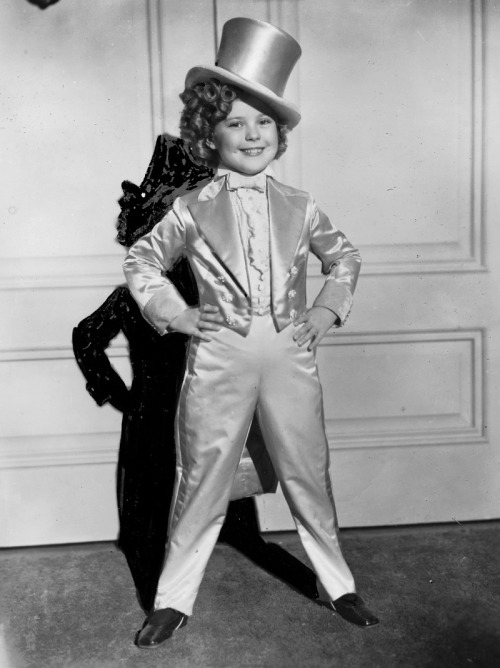 Shirley Temple in a Portrait for Dimples, 1936. This photograph was used as reference for the promotional/poster art for the film.