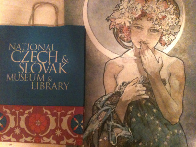 dianaterry:  Went to the Czech & Slovak museum in Cedar Rapids, IA to see the Alphonse Mucha exhibit. Seeing his work in person brought such awe, and reading about his life further proved he is my favorite artist for many reasons. His whole persona and outlook on life is what I strive to be.