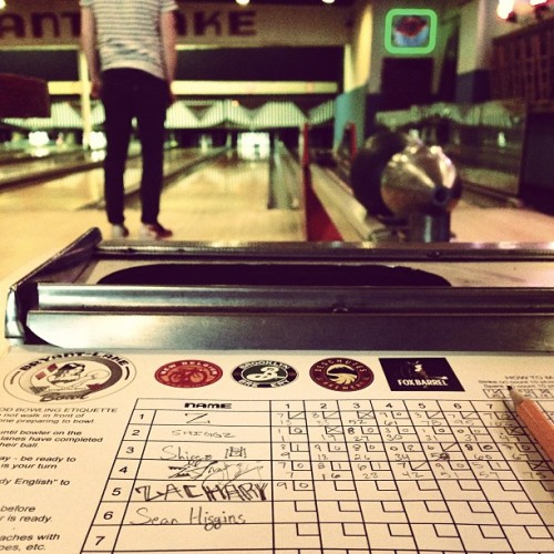 @theshiggins staring down a strike. #bowling #igers #igersmpls #minneapolis #instagood #instagramhub #igdaily #ignation #iphonesia  (at Bryant-Lake Bowl & Theater)