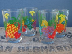 Fruit Juice Cups- $15 SOLD Set of four