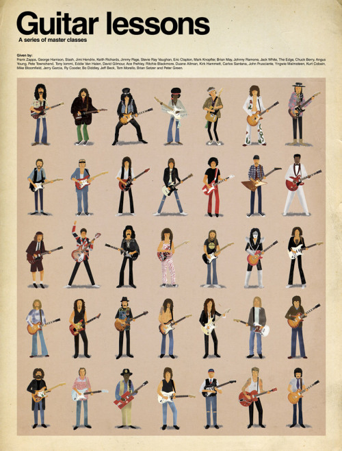 100percentmen:  All master guitarists, according to graphic artist Max Dalton.