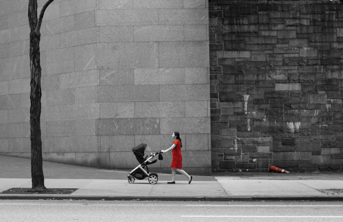 Red #3. 42nd street, Manhattan, New York in May 2012.